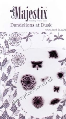 Dandelions At Dusk 8 Clear Rubber Stamps by Card-io